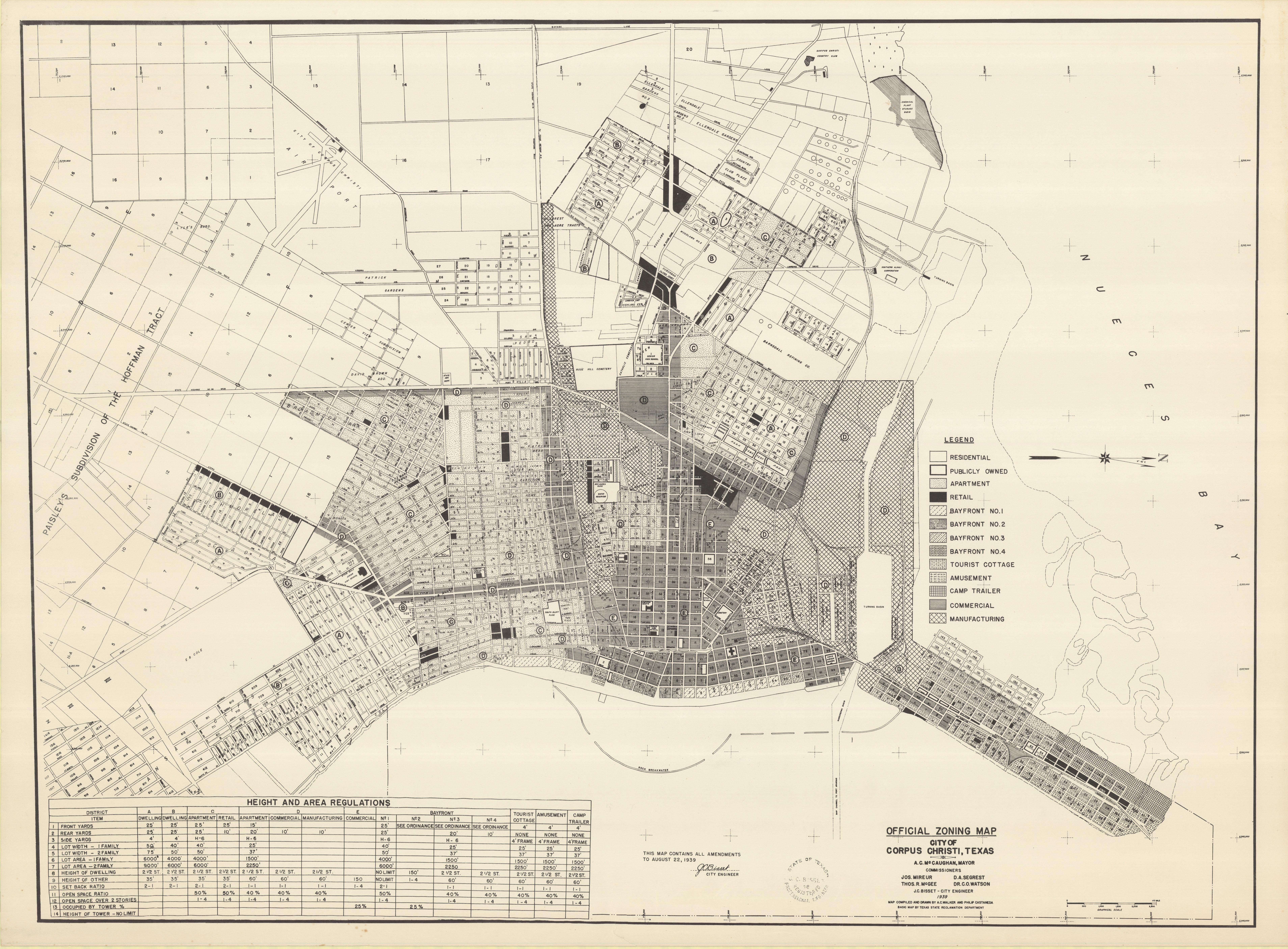 Official Zoning Map: City of Corpus Christi, Texas on