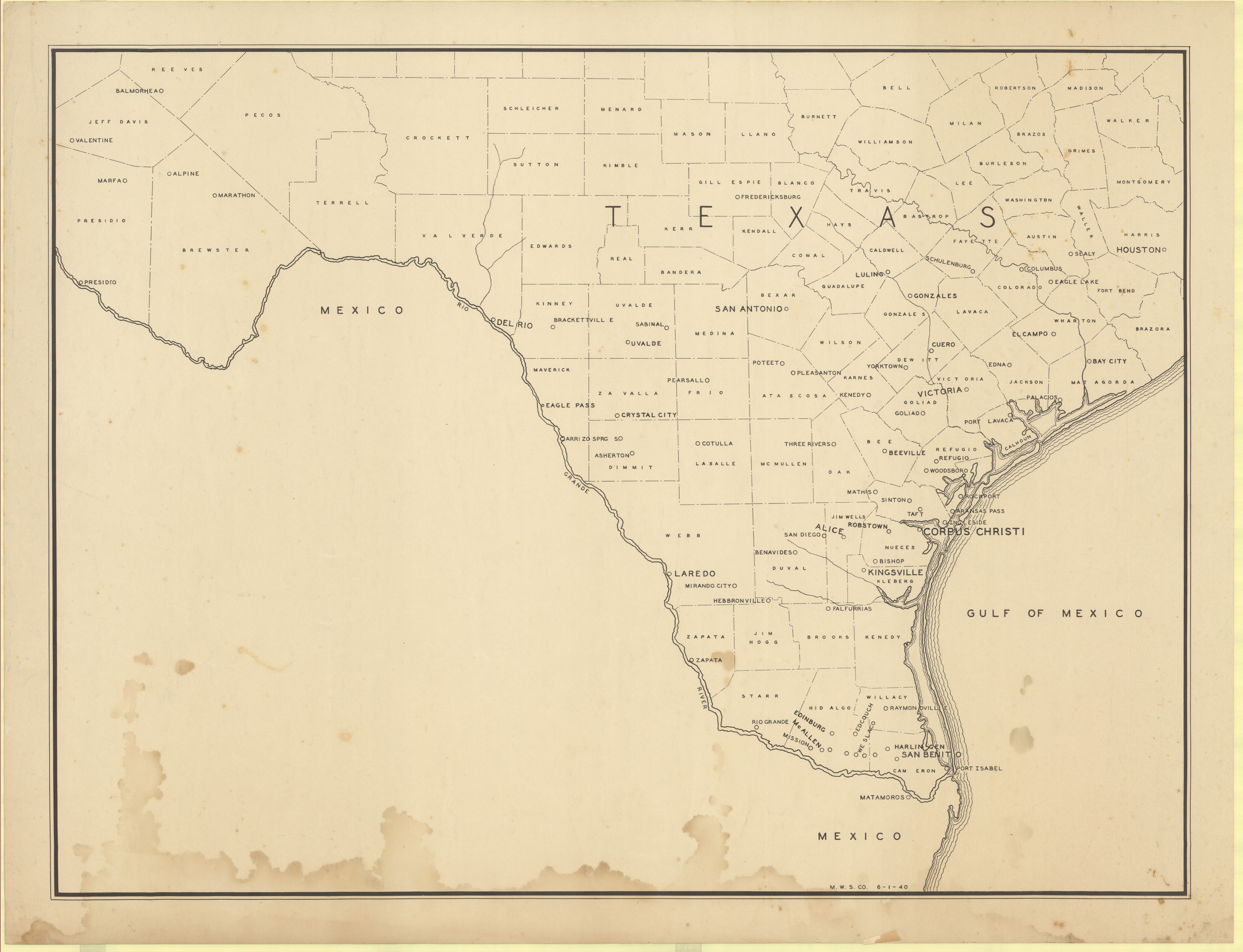 Map Of South Texas Counties Cities